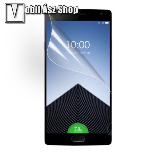 Képernyővédő fólia - Clear - 1db, törlőkendővel - OnePlus 2