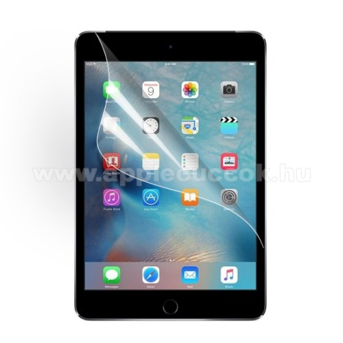 Képernyővédő fólia - Clear - 1db, törlőkendővel - APPLE iPad Mini 4 / APPLE iPad mini (2019)