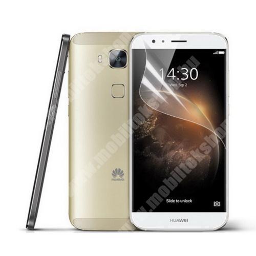 HUAWEI G8 Képernyővédő fólia - Clear - 1db, törlőkendővel - HUAWEI G7 Plus