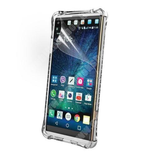 Képernyővédő fólia - Clear - 1db, törlőkendővel - LG V20