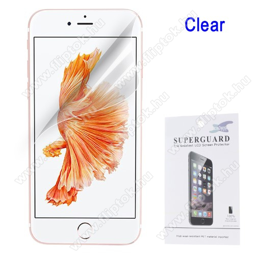 Képernyővédő fólia - Clear - 1db, törlőkendővel - APPLE iPhone SE (2020) / APPLE iPhone 7 / APPLE iPhone 8 / APPLE iPhone 6 / APPLE iPhone 6S