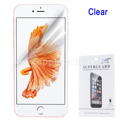Képernyővédő fólia - Clear - 1db, törlőkendővel - APPLE iPhone SE (2020) / APPLE iPhone 7 / APPLE iPhone 8 / APPLE iPhone 6 / APPLE iPhone 6S