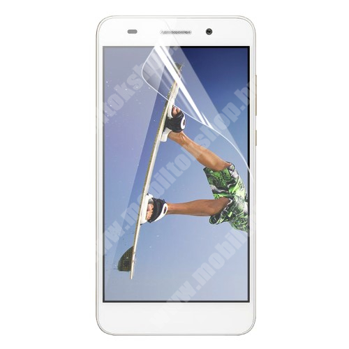 HUAWEI Honor Holly 3 Képernyővédő fólia - Clear - 1db, törlőkendővel - HUAWEI Honor 5A / HUAWEI Y6 II / HUAWEI Honor Holly 3