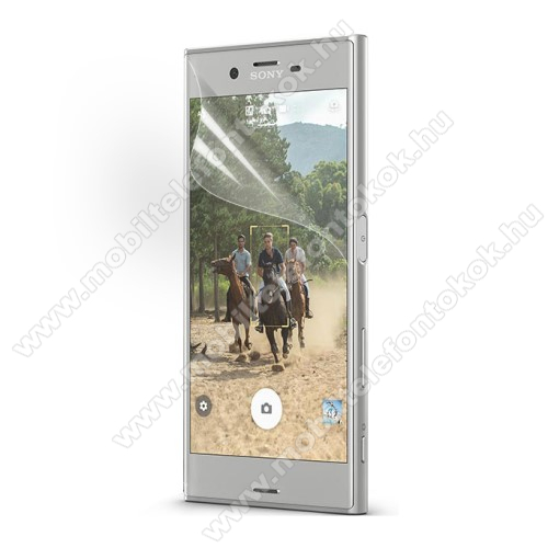 Képernyővédő fólia - Clear - 1db, törlőkendővel - SONY Xperia XZ