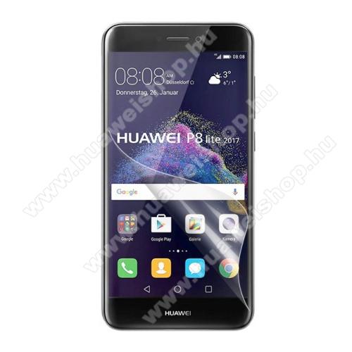 Képernyővédő fólia - Clear - 1db, törlőkendővel - HUAWEI P8 Lite (2017) / HUAWEI P9 Lite (2017)  / HUAWEI Honor 8 Lite