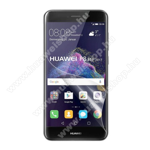 HUAWEI P8 Lite (2017)Képernyővédő fólia - Clear - 1db, törlőkendővel - HUAWEI P8 Lite (2017) / HUAWEI P9 Lite (2017)  / HUAWEI Honor 8 Lite