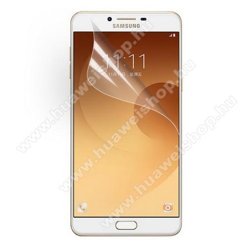 Képernyővédő fólia - Clear - 1db, törlőkendővel - SAMSUNG SM-C9000 Galaxy C9 Pro