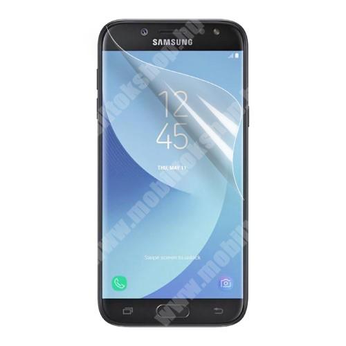 Képernyővédő fólia - Clear - 1db, törlőkendővel, teljes képernyőre - SAMSUNG SM-J327 Galaxy J3 (2017) / SAMSUNG SM-J330 Galaxy J3 (2017)