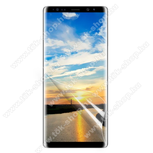Képernyővédő fólia - Clear - 1db, törlőkendővel, teljes képernyőre - SAMSUNG SM-N950F Galaxy Note8