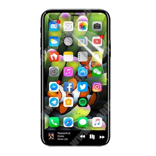 APPLE iPhone XS Képernyővédő fólia - Clear - 1db, törlőkendővel, teljes képernyőre - APPLE iPhone X / APPLE iPhone XS