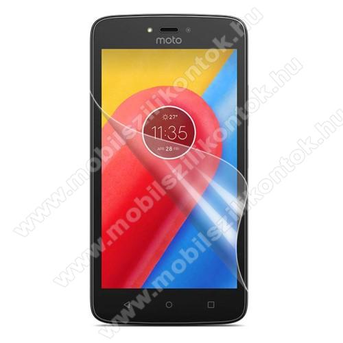 Képernyővédő fólia - HD Clear - 1db, törlőkendővel - MOTOROLA Moto C