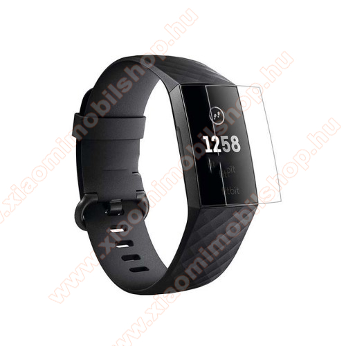 Képernyővédő fólia - Soft TPU - Anti-explosion - Fitbit Charge 3