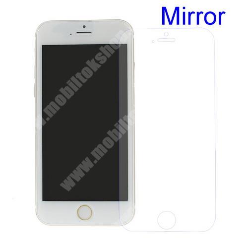 Képernyővédő fólia - Tükrös felületű - 1db, törlőkendővel - APPLE IPhone 6