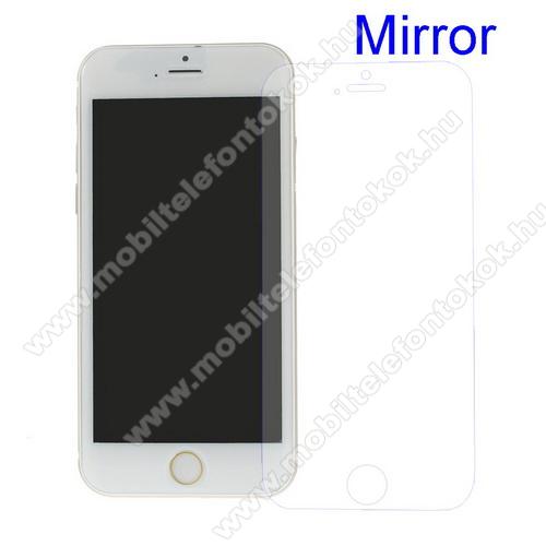 Képernyővédő fólia - Tükrös felületű - 1db, törlőkendővel - APPLE iPhone SE (2020) / APPLE iPhone 7 / APPLE iPhone 8 / APPLE iPhone 6 / APPLE iPhone 6S