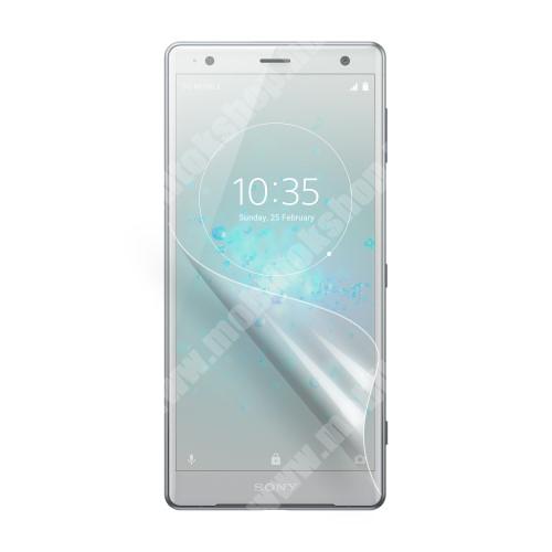 Sony Xperia XZ2 (2018) Képernyővédő fólia - Ultra Clear - 1db, törlőkendővel - SONY Xperia XZ2 (2018)