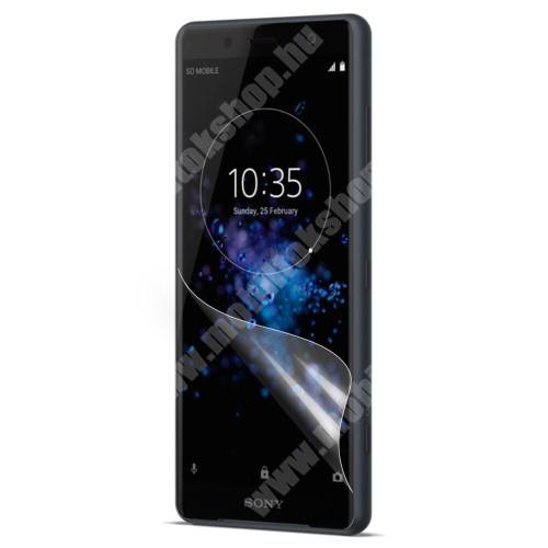 Képernyővédő fólia - Ultra Clear - 1db, törlőkendővel - SONY Xperia XZ2 Compact (2018)