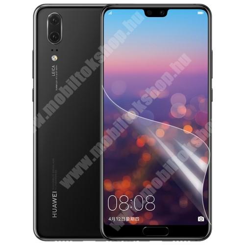 Huawei P20 (2018) Képernyővédő fólia - Ultra Clear - 1db, törlőkendővel - HUAWEI P20 (2018)