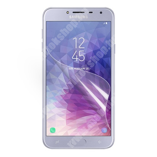 SAMSUNG SM-J400F Galaxy J4 (2018) Képernyővédő fólia - Ultra Clear - 1db, törlőkendővel - SAMSUNG SM-J400F Galaxy J4 (2018)