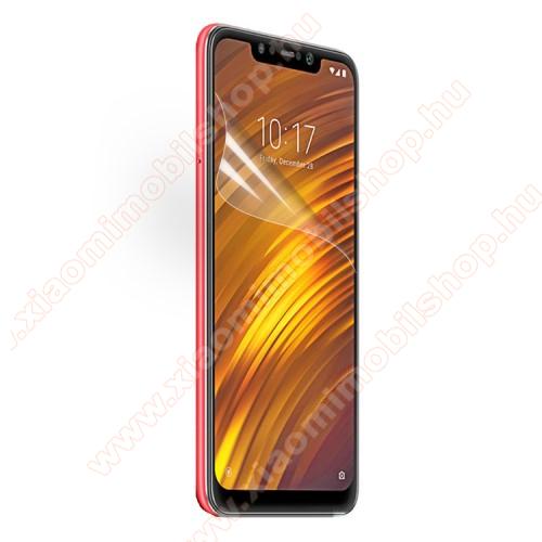 Xiaomi Pocophone F1Képernyővédő fólia - Ultra Clear - 1db, törlőkendővel - Xiaomi Pocophone F1
