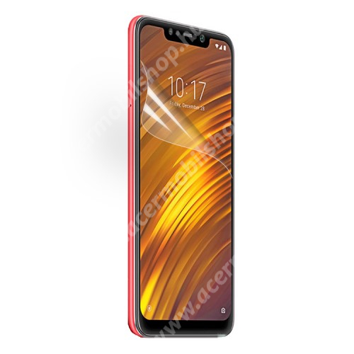 Képernyővédő fólia - Ultra Clear - 1db, törlőkendővel - Xiaomi Pocophone F1