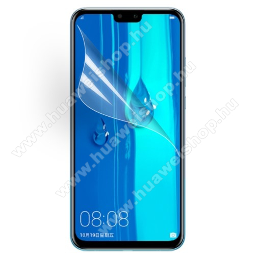HUAWEI Y9 (2019)Képernyővédő fólia - Ultra Clear - 1db, törlőkendővel - HUAWEI Y9 (2019) / HUAWEI Enjoy 9 Plus