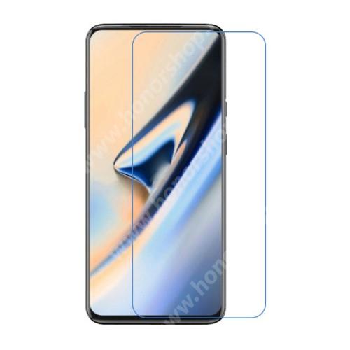 Képernyővédő fólia - Ultra Clear - 1db, törlőkendővel - Oneplus 7