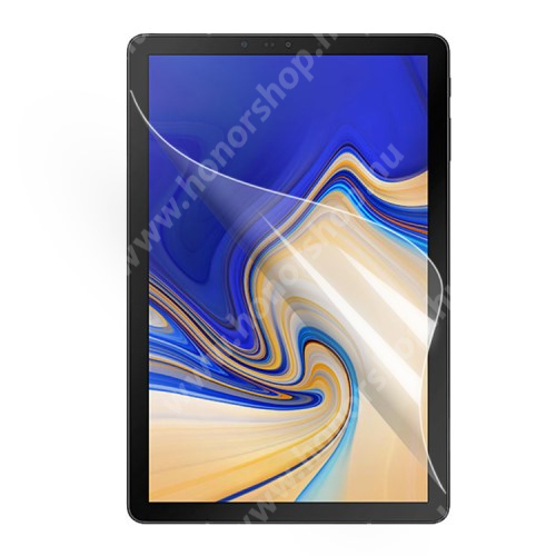 Képernyővédő fólia - Ultra Clear - 1db, törlőkendővel - SAMSUNG SM-T830 Galaxy Tab S4 10.5 (Wi-Fi) / SAMSUNG SM-T835 Galaxy Tab S4 10.5 (LTE)