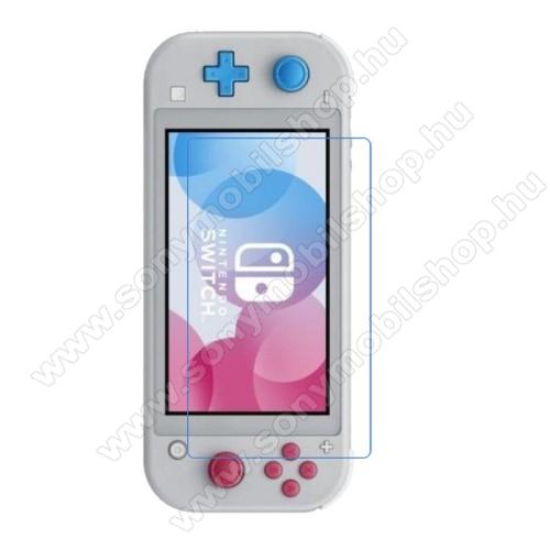 Képernyővédő fólia - Ultra Clear - 1db, törlőkendővel, A képernyő sík részét védi - Nintendo Switch Lite