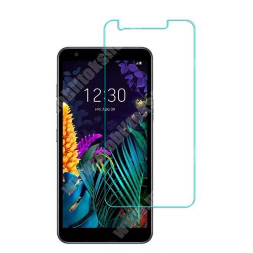 Képernyővédő fólia - Ultra Clear - 1db, törlőkendővel, A képernyő sík részét védi - LG K30 (2019)