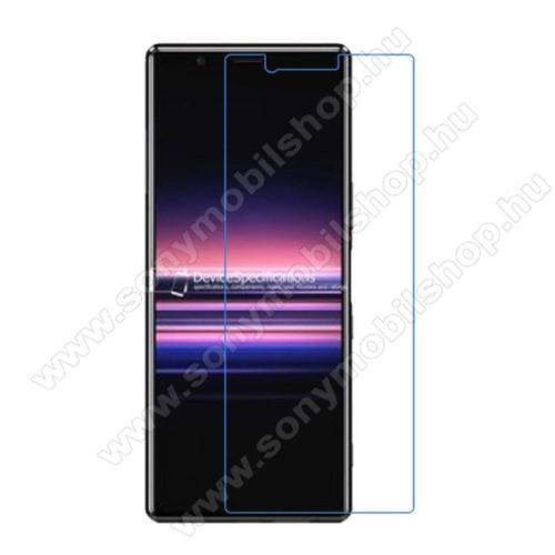 Képernyővédő fólia - Ultra Clear - 1db, törlőkendővel - Sony Xperia 5