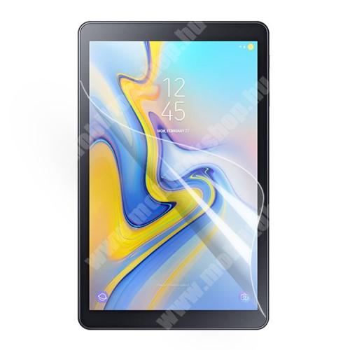 Képernyővédő fólia - Ultra Clear - 1db, törlőkendővel, A képernyő sík részét védi - SAMSUNG SM-T590 Galaxy Tab A 10.5 Wi-Fi / SAMSUNG SM-T595 Galaxy Tab A 10.5 LTE