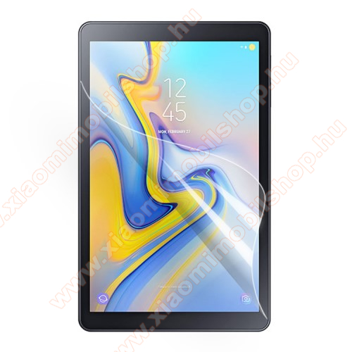 Képernyővédő fólia - Ultra Clear - 1db, törlőkendővel, teljes képernyőre, A képernyő sík részét védi - SAMSUNG SM-T590 Galaxy Tab A 10.5 Wi-Fi / SAMSUNG SM-T595 Galaxy Tab A 10.5 LTE