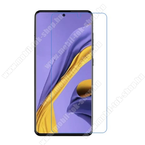Képernyővédő fólia - Ultra Clear - 1db, törlőkendővel, A képernyő sík részét védi - SAMSUNG Galaxy A51 (SM-A515F) / SAMSUNG Galaxy A51 5G (SM-A516F)