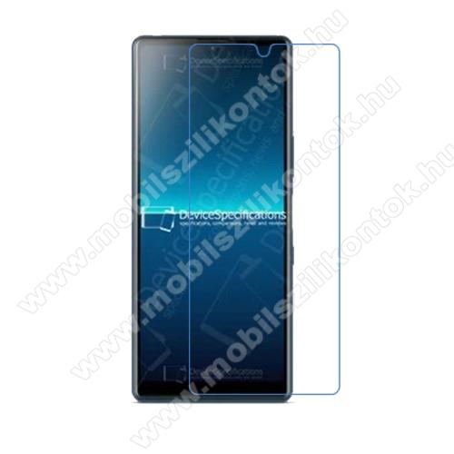 Képernyővédő fólia - Ultra Clear - 1db, törlőkendővel, A képernyő sík részét védi - SONY Xperia L4