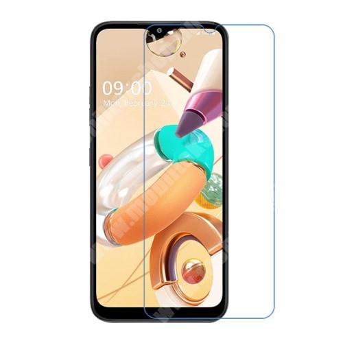 Képernyővédő fólia - Ultra Clear - 1db, törlőkendővel, A képernyő sík részét védi - LG K41S