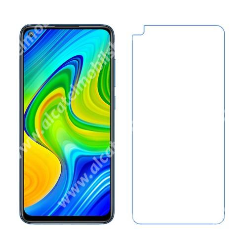 Képernyővédő fólia - Ultra Clear - 1db, törlőkendővel, A képernyő sík részét védi - Xiaomi Redmi Note 9 / Xiaomi Redmi 10X 4G
