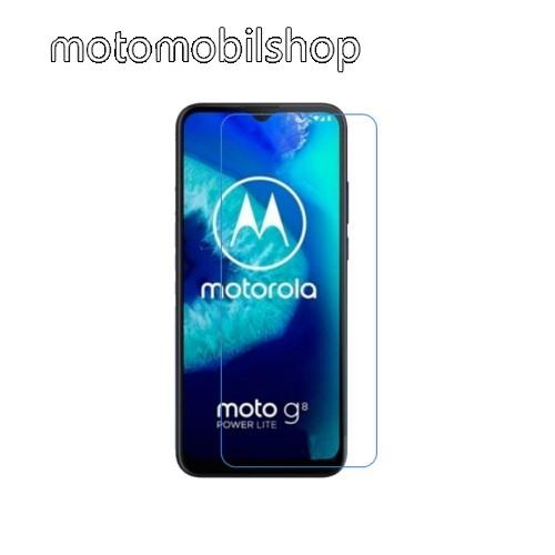 Képernyővédő fólia - Ultra Clear - 1db, törlőkendővel, A képernyő sík részét védi - MOTOROLA Moto G8 Power Lite