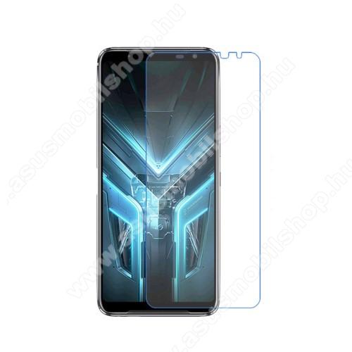 Képernyővédő fólia - Ultra Clear - 1db, törlőkendővel, A képernyő sík részét védi - ASUS ROG Phone 3 (ZS661KS) / ASUS ROG Phone 3 Strix