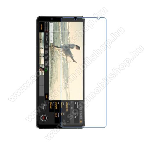 Képernyővédő fólia - Ultra Clear - 1db, törlőkendővel, A képernyő sík részét védi - SONY Xperia 5 II (2020)
