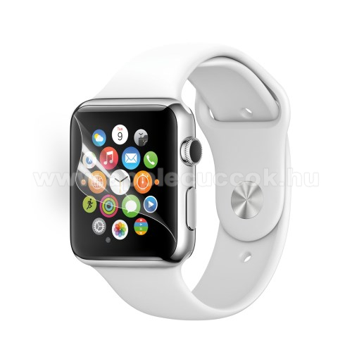 APPLE Watch Series 1 42mm Képernyővédő fólia - Ultra Clear - 1db, törlőkendővel - Apple Watch 42mm