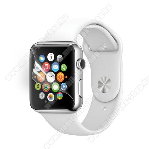 Képernyővédő fólia - Ultra Clear - 1db, törlőkendővel - Apple Watch 38mm