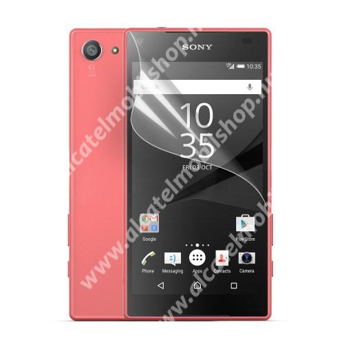 Képernyővédő fólia - Ultra Clear - 1db, törlőkendővel - SONY Xperia Z5 Compact