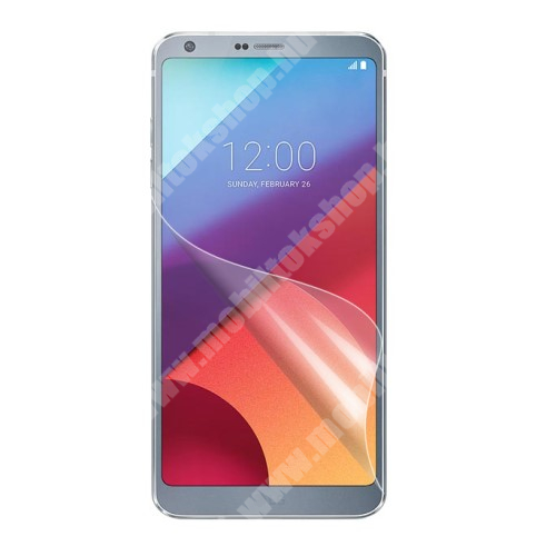 LG G6 Plus Képernyővédő fólia - Ultra Clear - 1db, törlőkendővel - LG G6 / LG G6 Plus