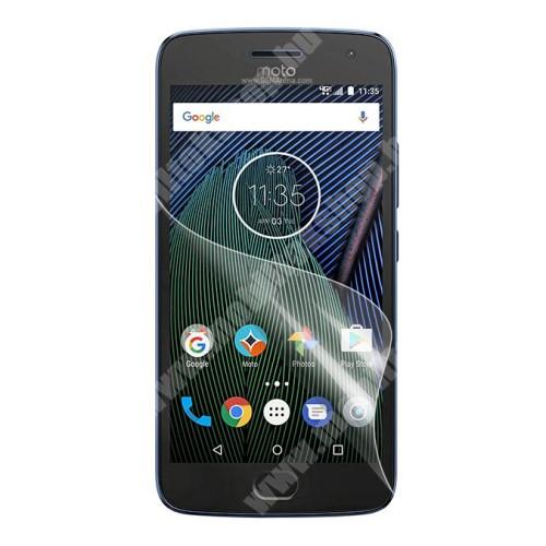 Képernyővédő fólia - Ultra Clear - 1db, törlőkendővel - Motorola Moto G5 Plus
