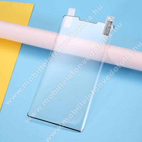 Képernyővédő fólia - Ultra Clear, PET (műanyag), 1db, A TELJES KÉPERNYŐT VÉDI! - FEKETE - HUAWEI Mate 30 Pro / HUAWEI Mate 30 Pro 5G