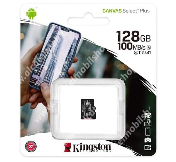 KINGSTON MEMÓRIAKÁRTYA TransFlash 128GB - SDCS2/128GBSP - microSDXC Canvas Select Plus - Class 10, UHS-1, A1 - GYÁRI
