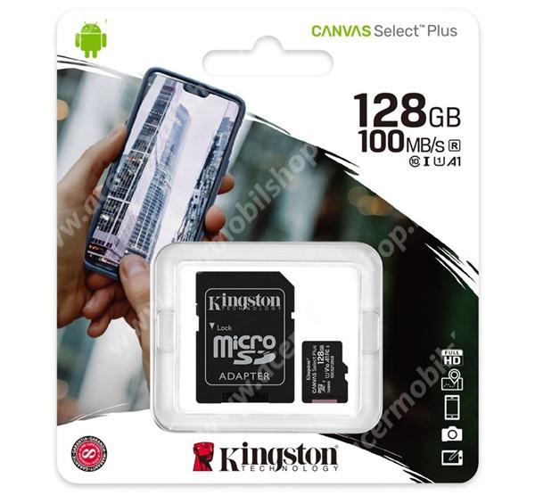 ACER Liquid X1 KINGSTON MEMÓRIAKÁRTYA TransFlash 128GB - SDCS2/128GB - microSDXC Canvas Select Plus - Class 10, UHS-1, A1 + SD adapter - GYÁRI