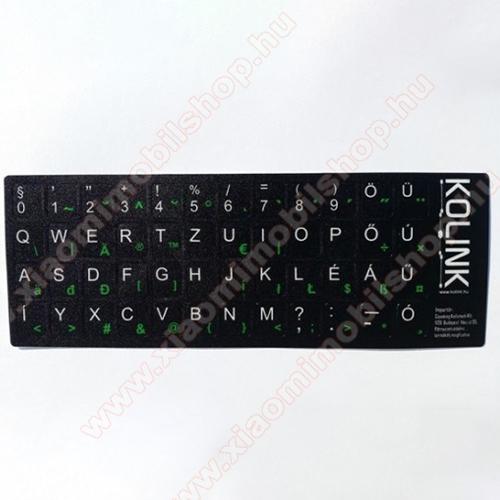Xiaomi Poco F2 ProKolink UNIVEZÁLIS billentyűzet matrica fekete alapon fehér betűk magyar kiosztás!