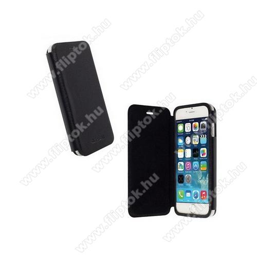 APPLE iPhone 6KRUSELL FlipCase DONSÖ műanyag védő tok - oldalra nyíló flip cover, mágneses záródás - FEKETE - 75902 - APPLE IPhone 6 - GYÁRI