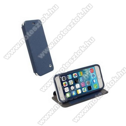 APPLE iPhone 6KRUSELL FlipCase MALMÖ műanyag védő tok / bőr hátlap - oldalra nyíló flip - 75900 - KÉK - APPLE IPhone 6 - GYÁRI